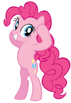 Pinkie Pie measures her head