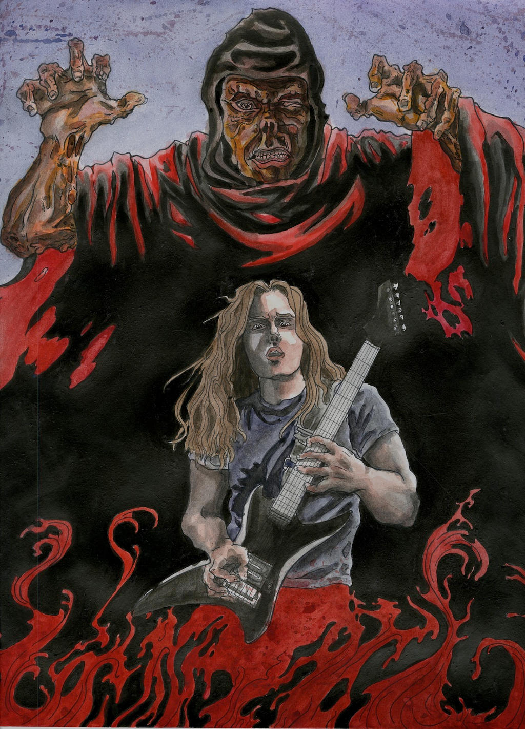 Chuck Schuldiner by Bonesaw999 on DeviantArt