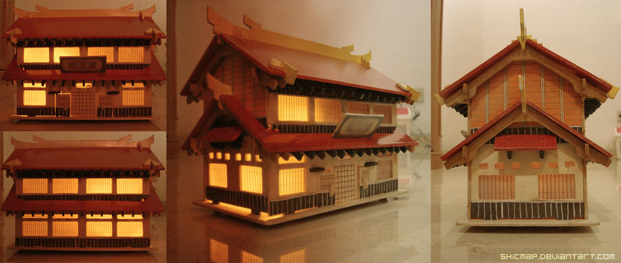 Japanese traditional house by shicmap on deviantart
