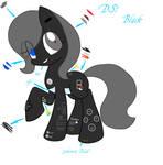 My Nintendo DSi as a Pony: Black by Dewa-chan