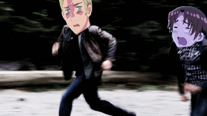 .:Hetalia GIF:. Running away by PrincessCelestia908