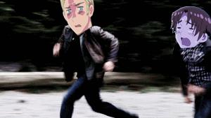 .:Hetalia GIF:. Running away by PrincessCelestia908