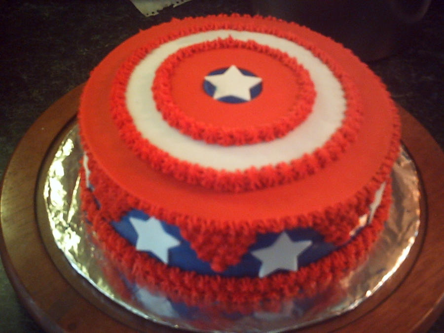 Captain Americas Shield Cake by SakuraCourageSolo on DeviantArt