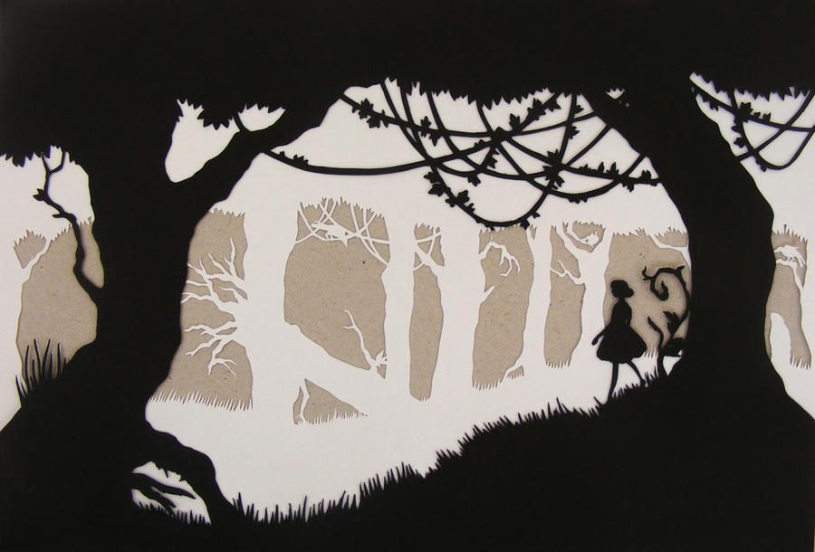 Double-layered papercut by blackbrumby