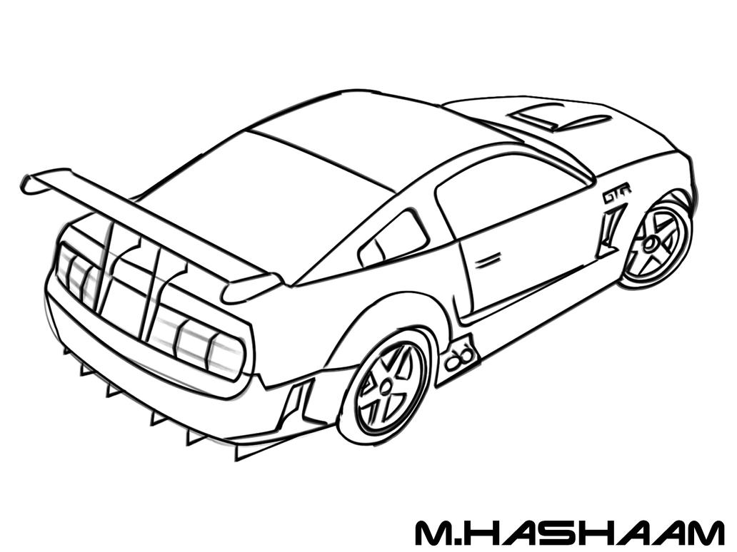 coloring pages line gtr