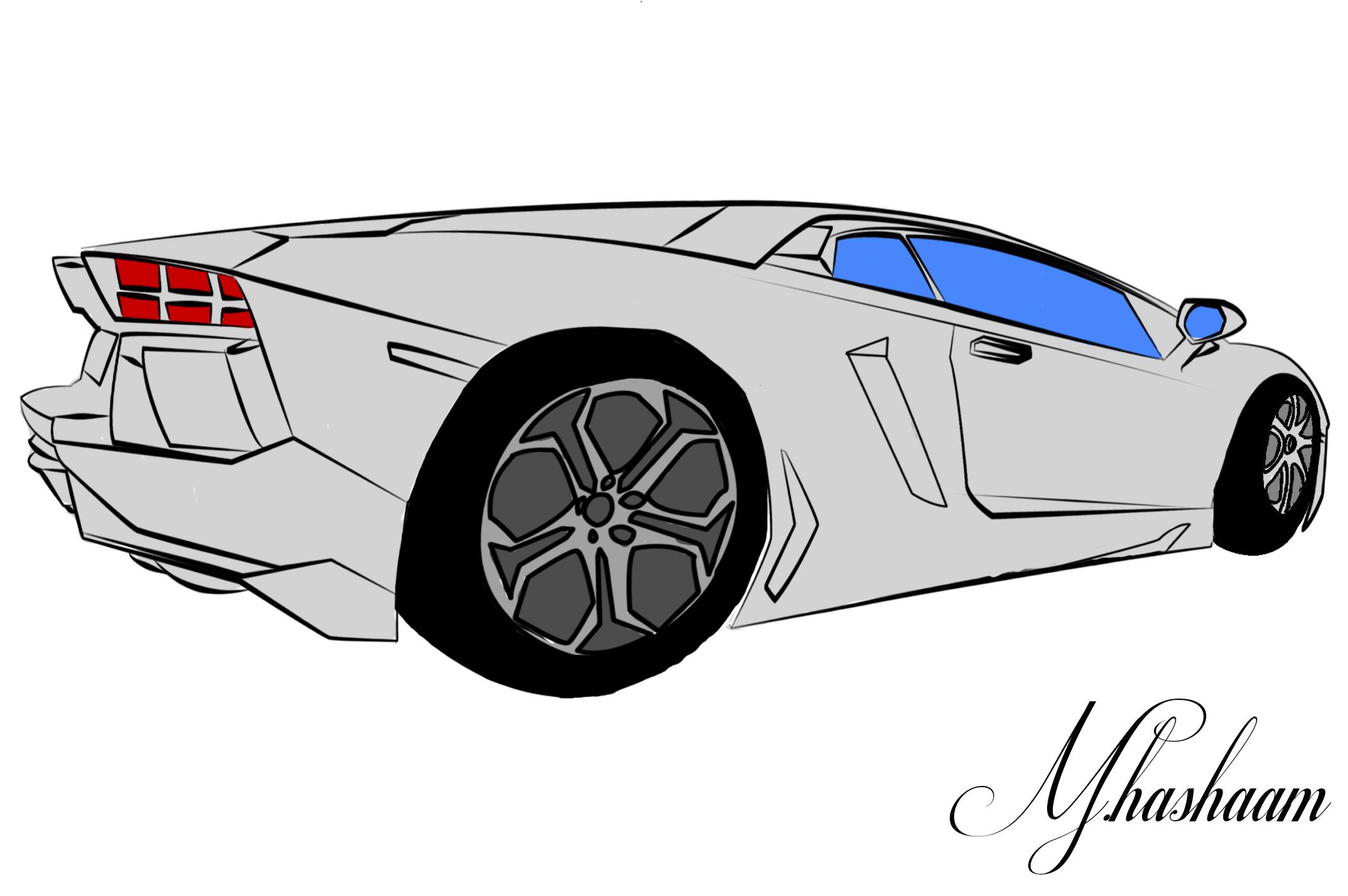 Lamborghini Aventador Sketch by TecArtist on DeviantArt