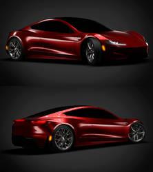 Tesla Roadster Render