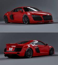 Audi R8 Libertywalk Render