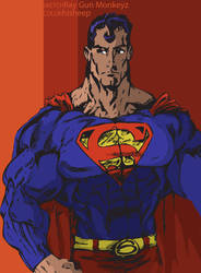 The Man of Steel 'colored' by hiSheep
