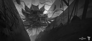 Shadow Warrior 2 Temple Concept Sketch