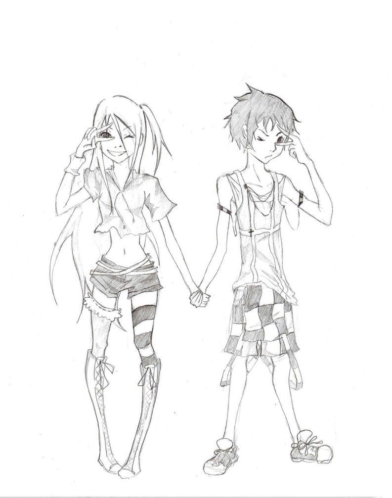 Art Request 1: SHIRO + GANTA by xxmidnitexx