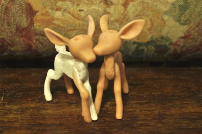 deer couple WIP by rottingteeth