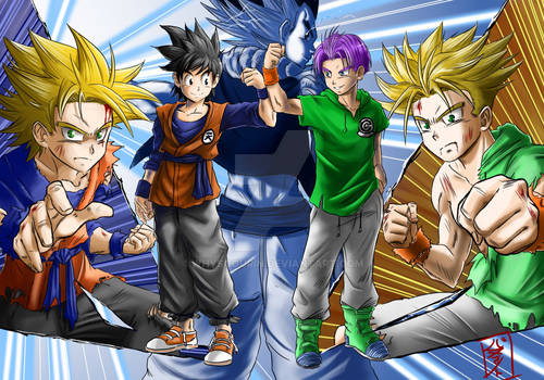 Teen Goten and Trunks