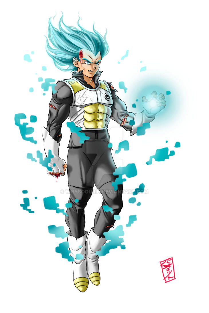 Super Saiyajin Blue Vegeta redesign by WhysoGurin
