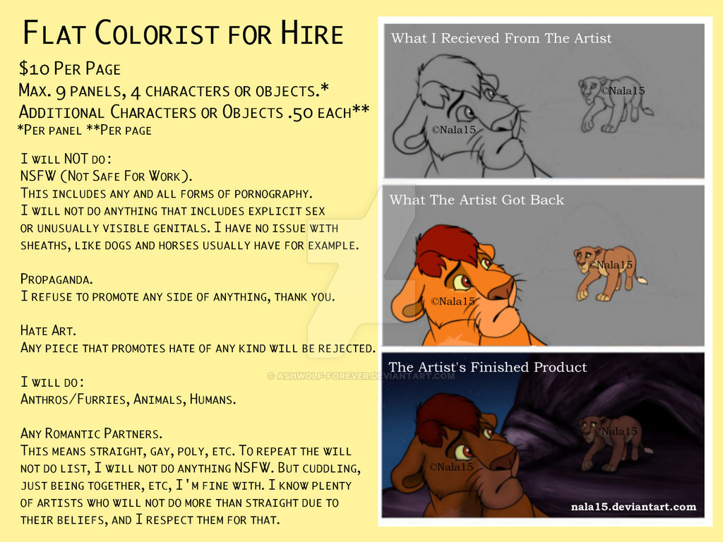 Flat Colorist for Hire
