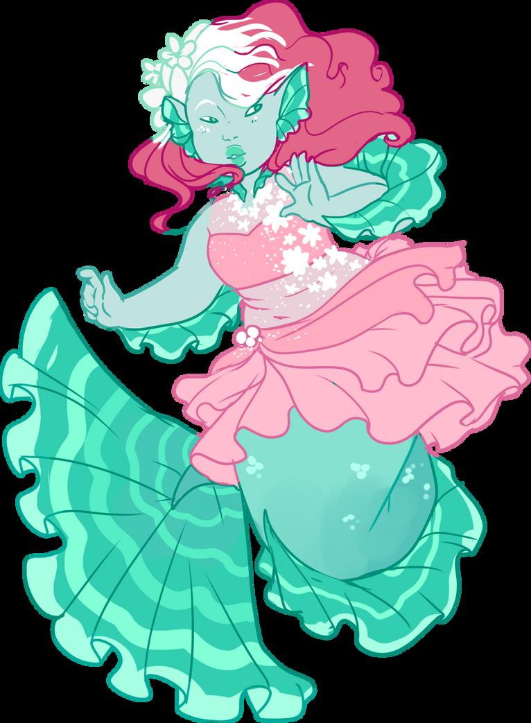 Custom! Pink Mermaid by Death2Eden