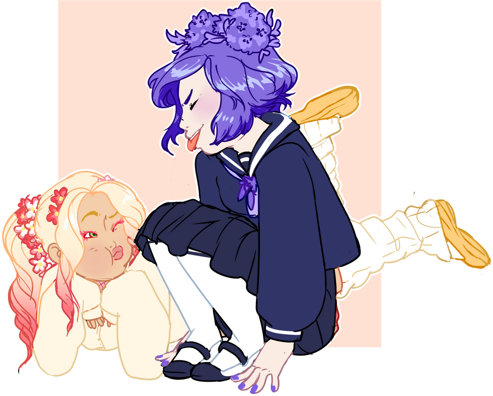 YCH! Flowery Goofs by Death2Eden
