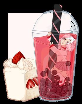 YCH! Strawberry Tapioca