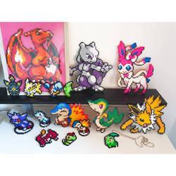 Pokemon perlers by kaydenpixels