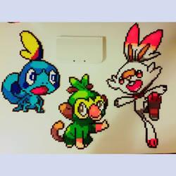 Pokemon gen 8 starters by kaydenpixels