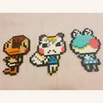 Animal Crossing perlers by kaydenpixels