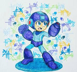 Inktober day 1: Megaman