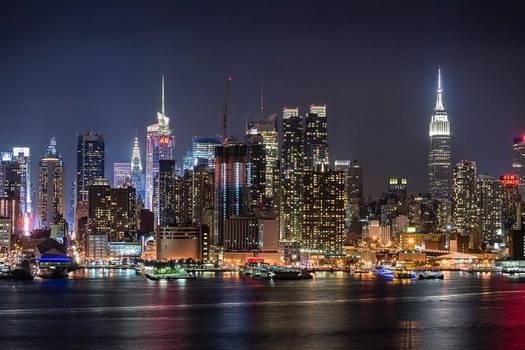 Bright Light At New York 9:30 P.M.