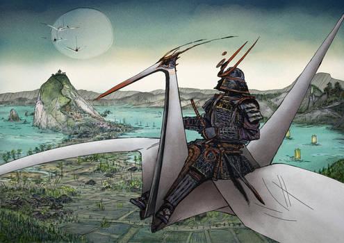 Samurai and Paper Crane