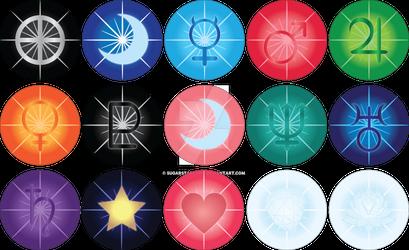 Sailor Moon button pins