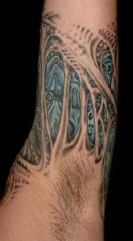 Morbid Tattoo Left Arm