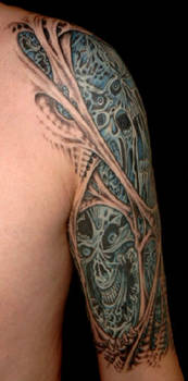 Morbid Tattoo Left Arm 2