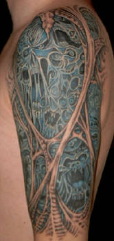 Morbid Tattoo Left Arm 3