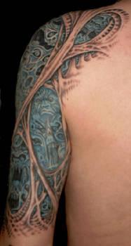 Morbid Tattoo Left Arm 4