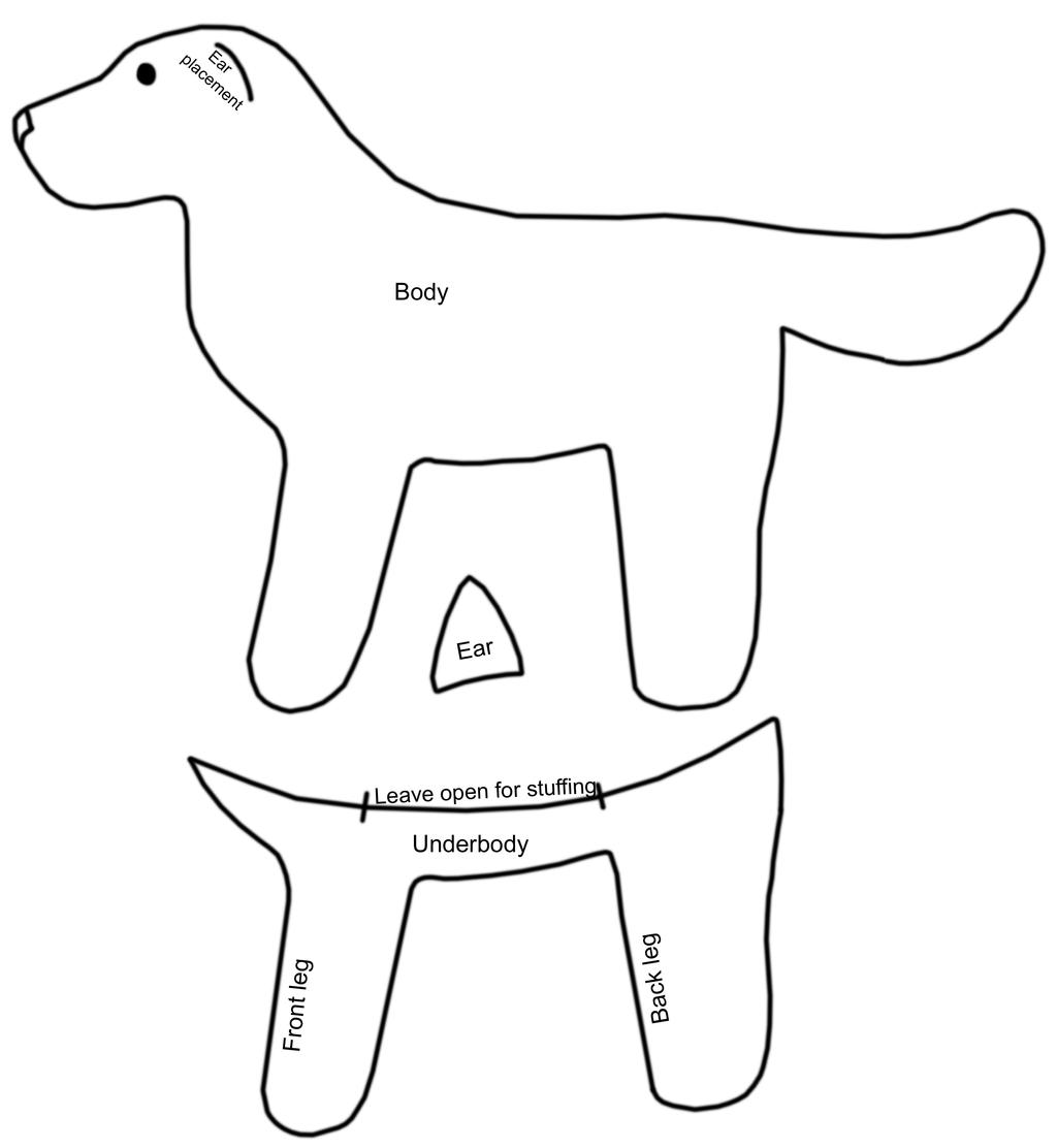 Free printable sewing patterns for dogs music search for Stuffed animal templates free