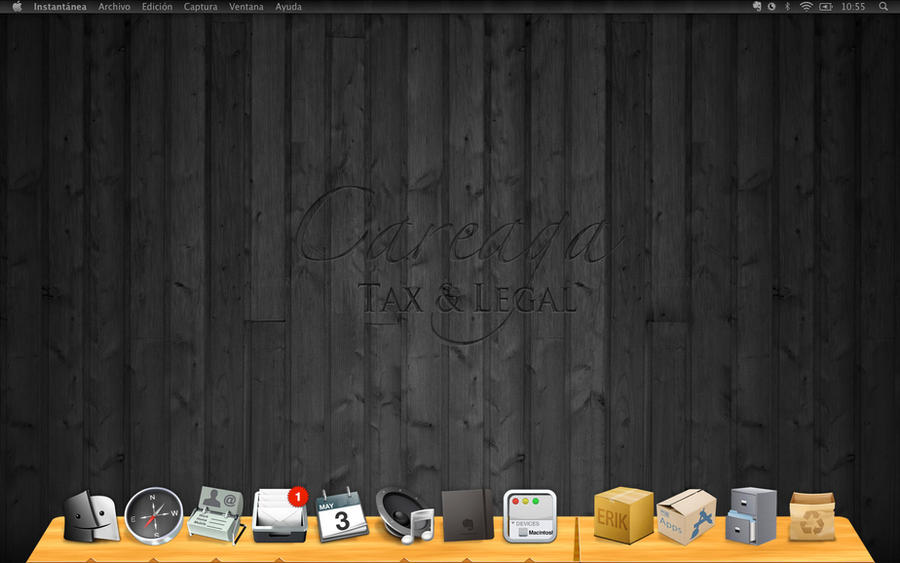 My desktop BLACK by CAREAGA