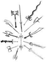 Swords...Lots of Swords by WingedMagus