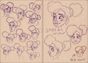 Sarena Hi'Crop Sketch Test
