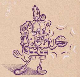 SpongeBob - Cross Hatching Study #1