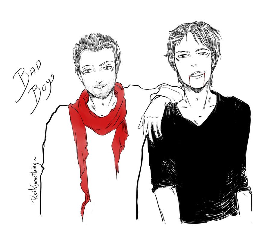 The Vampire Diaries- Enzo and Damon by RoItsSomething