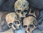 Pyramid of skulls - Cezanne [Watercolor] by lizana