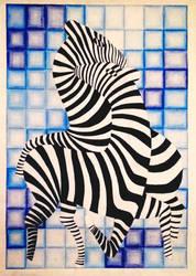 Victor Vasarely - Zebra