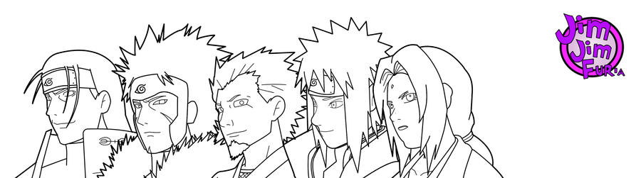 Hokages Lineart by jimjimfuria1 on DeviantArt