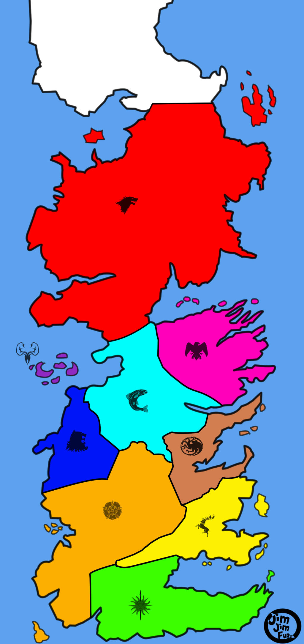 Westeros Map By Jimjimfuria1 On Deviantart