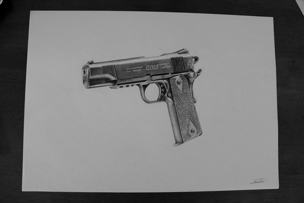 Colt gun drawing by SpiritOfsouls on DeviantArt