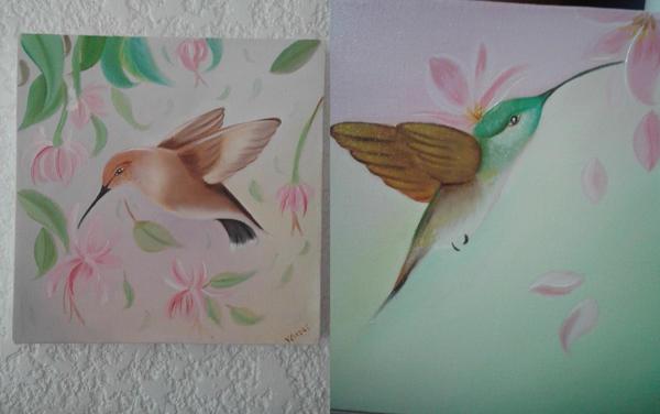 Mini canvas colibries by joyvane