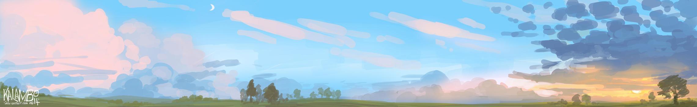 Sunset panorama by kalambo
