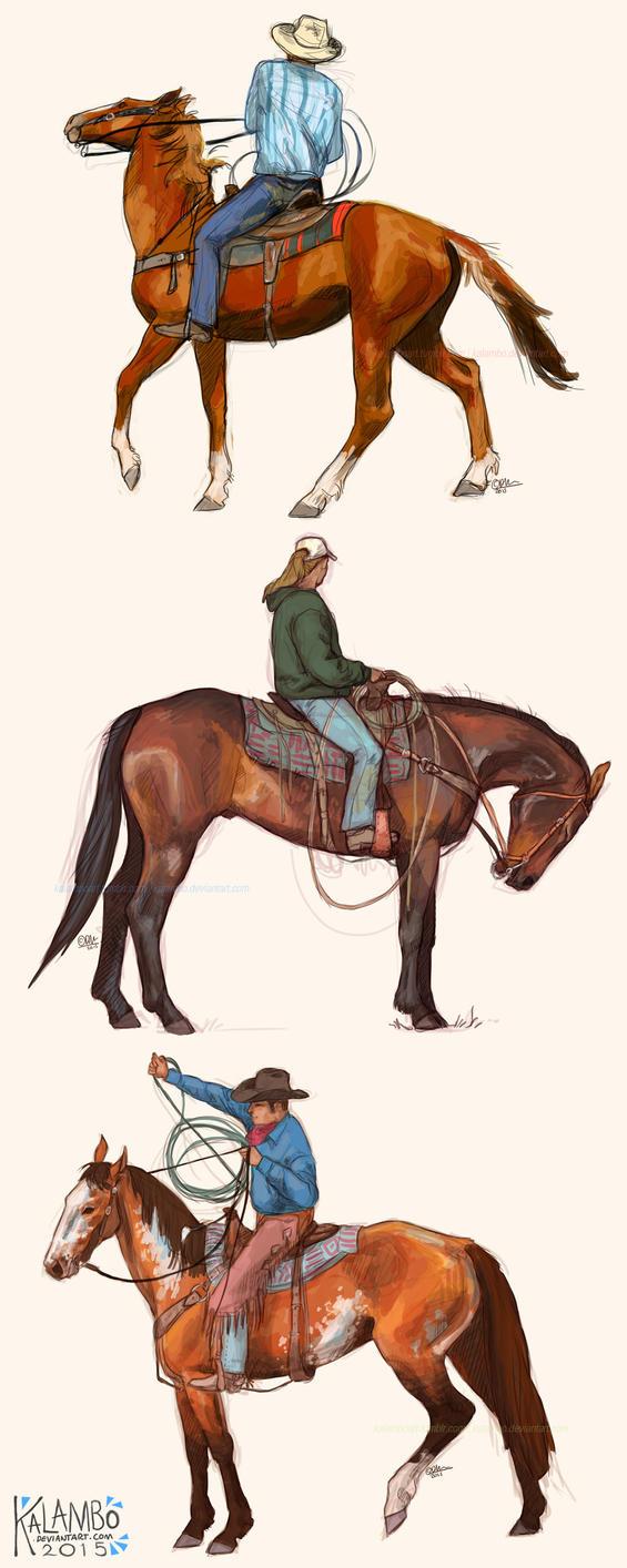 Cowboy studies by kalambo