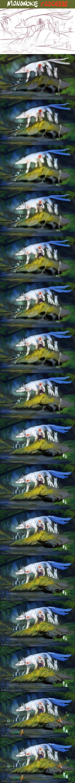 Mononoke: process by kalambo