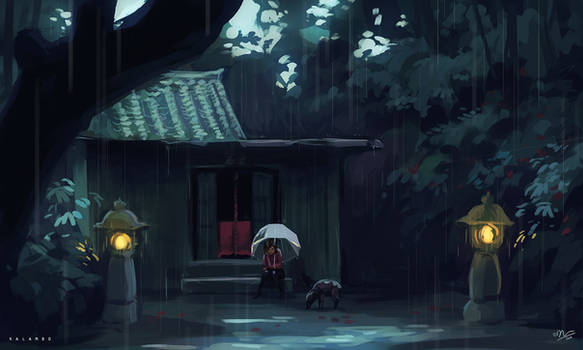 wild boar and the rain