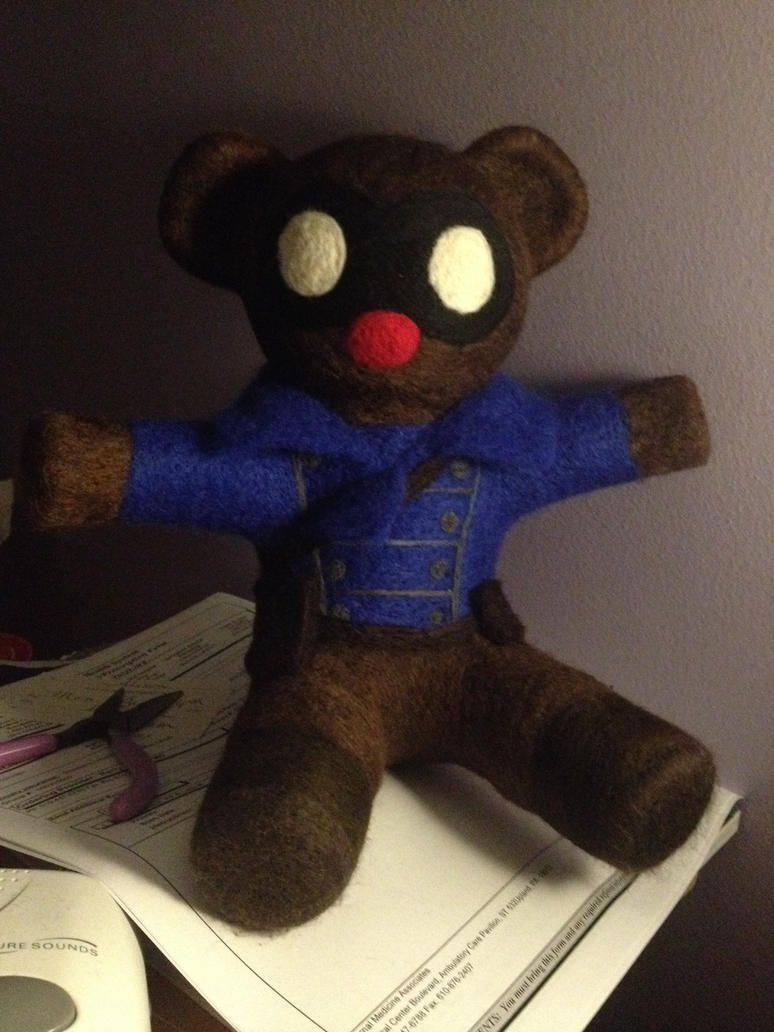 Howling Commando Bucky Bear by sarabi